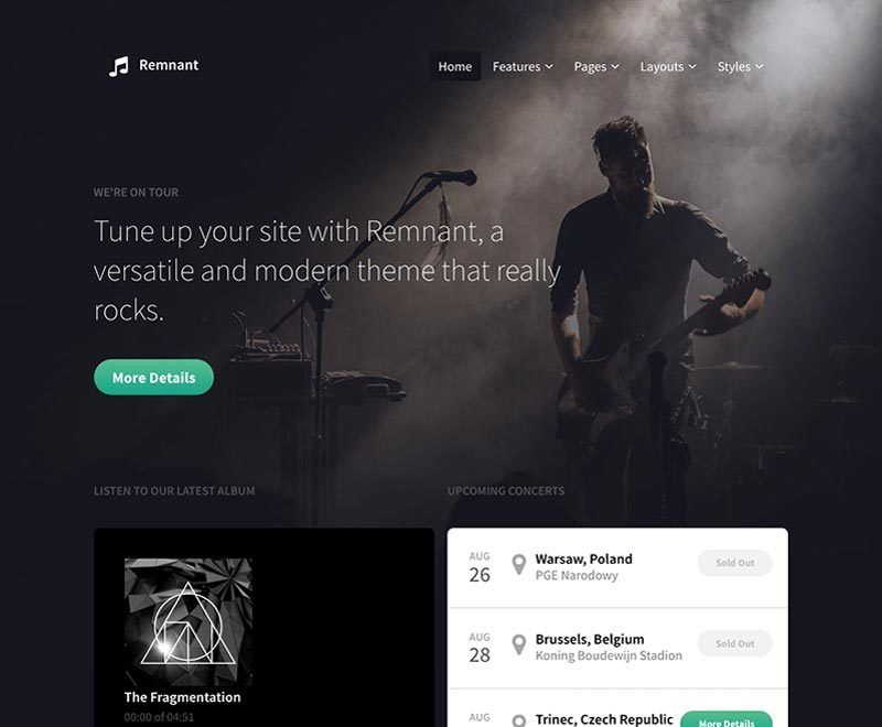 Remnant best WordPress template