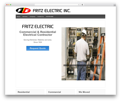 Responsive free WP theme - fritzelectric.com