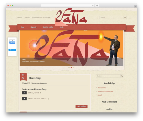 RetroPress WordPress website template - fanta2.at