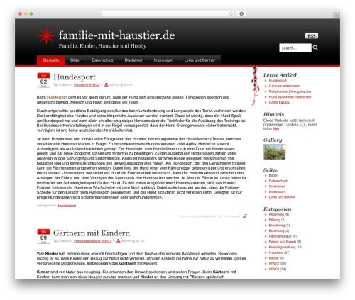 Stardust top WordPress theme - familie-mit-haustier.de