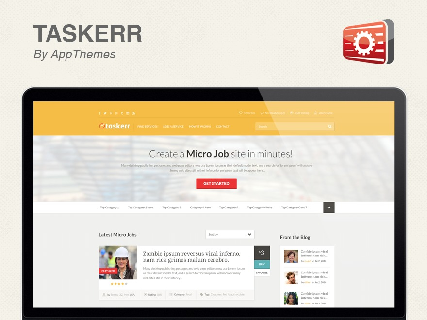 Taskerr premium WordPress theme
