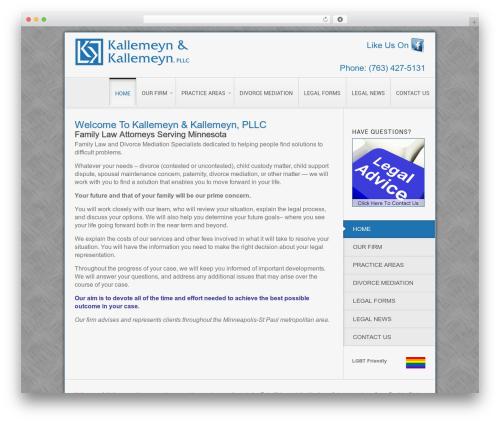 Theme WordPress Clarion - familylawyersmn.com