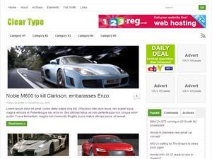 Theme WordPress ClearType