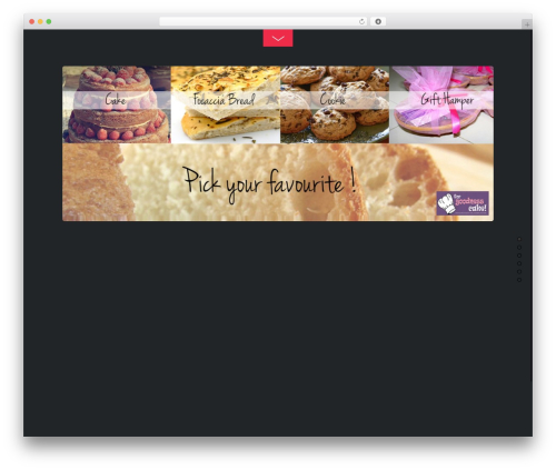 Themify Fullpane template WordPress - forgoodnesscake.co.in