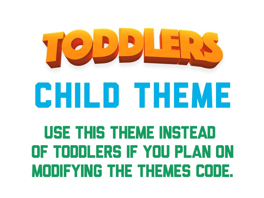 Toddlers child WordPress theme design