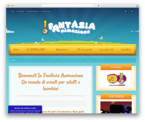 Toddlers WordPress website template - fantasia-animazione.com