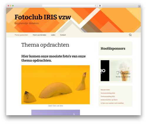 Twenty Thirteen free WordPress theme - fotoclubiris.be