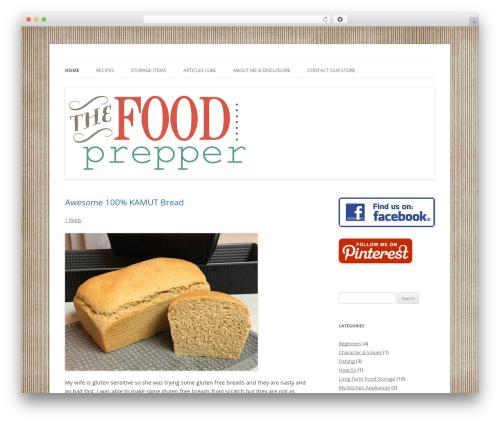 WordPress my-pinterest-badge plugin - foodprepper.com