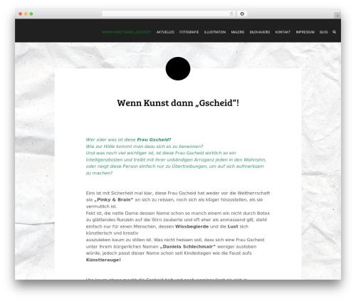 Wordit best WordPress theme - frau-gscheid.at