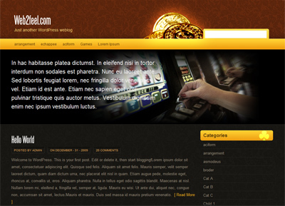 WordPress template Slothouse