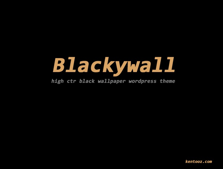 WordPress theme blackywall