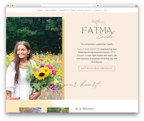 WordPress theme Divi - fatmazaidi.com
