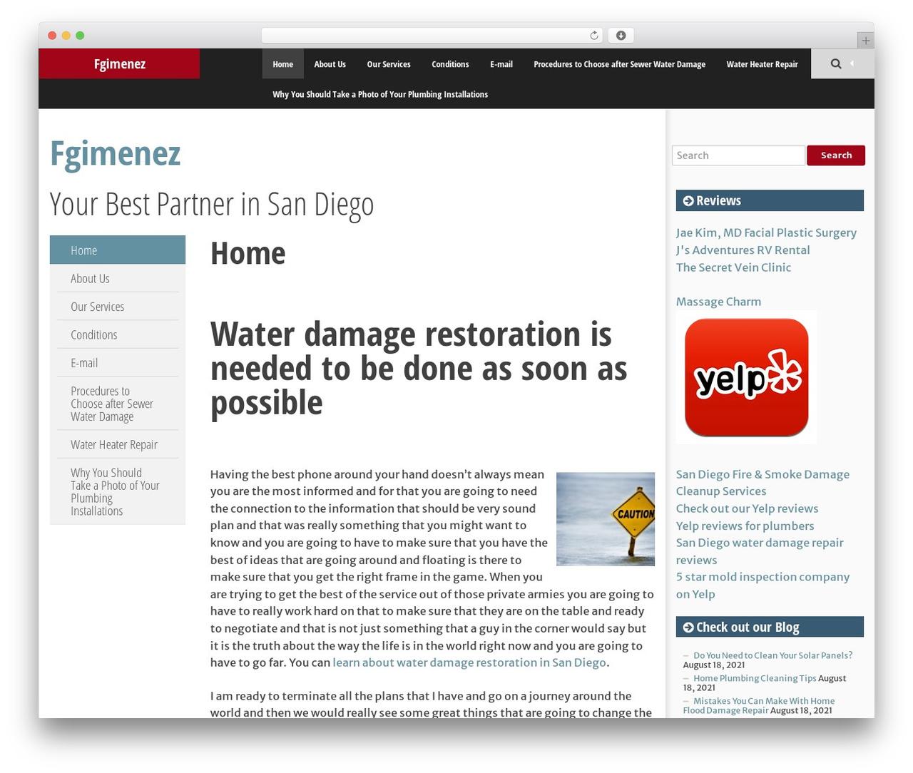 WordPress theme SmartAdapt - fgimenez.com