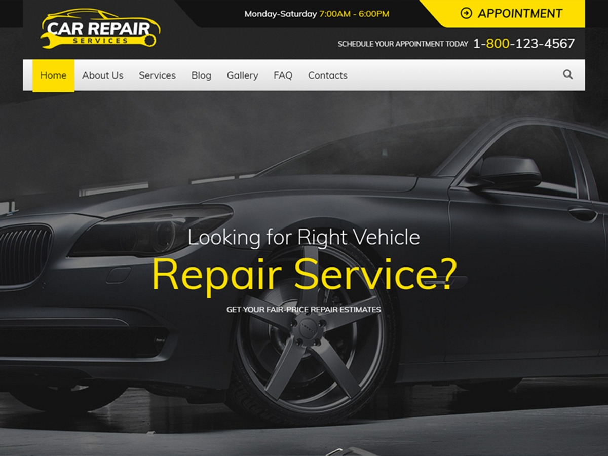 WordPress website template Car Repair Services