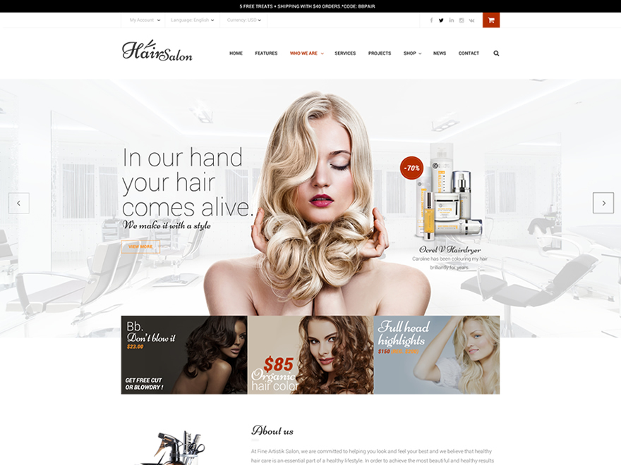 WP theme TM HairSalon