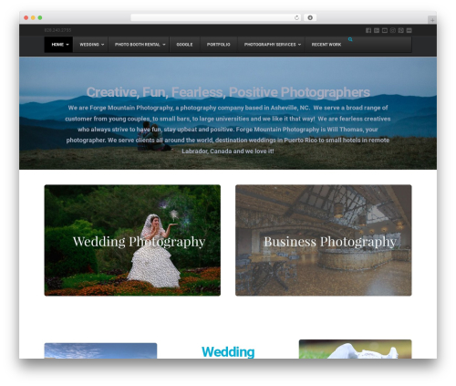 X WordPress template for photographers - forgemountainphoto.com