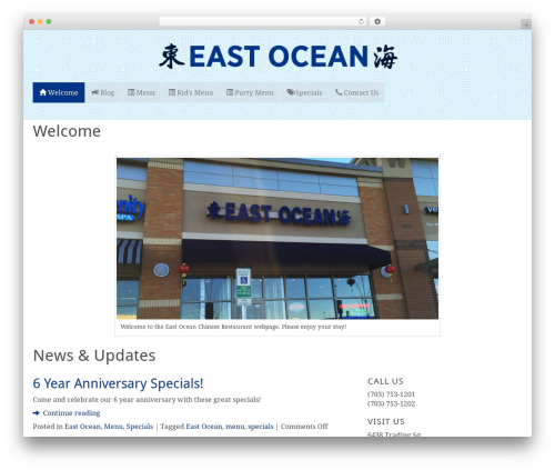 AlbinoMouse WordPress restaurant theme - eastoceanva.com