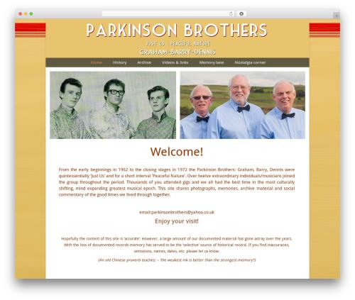 Chameleon premium WordPress theme - justusonline.co.uk