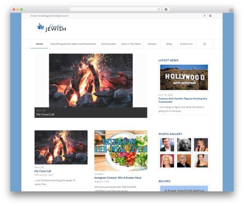 Enfold template WordPress - everythingjewish.ca