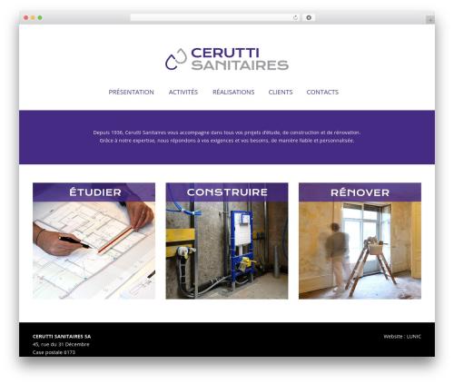Hotel Master WordPress theme - cerutti-sanitaires.ch