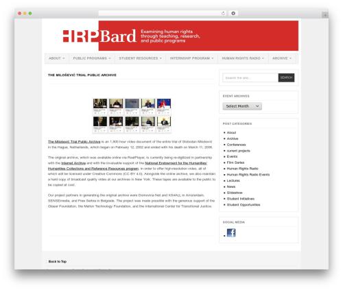 Project AR2 template WordPress - hrp.bard.edu/slobodan-milosevic-trial-public-archive