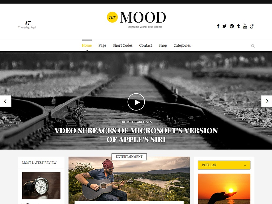 The Mood WordPress news template