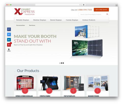 Free WordPress Bellows Accordion Menu plugin - exhibitexpress.ca
