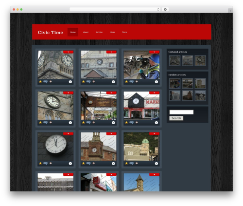 WP theme eGallery - civic-time.com