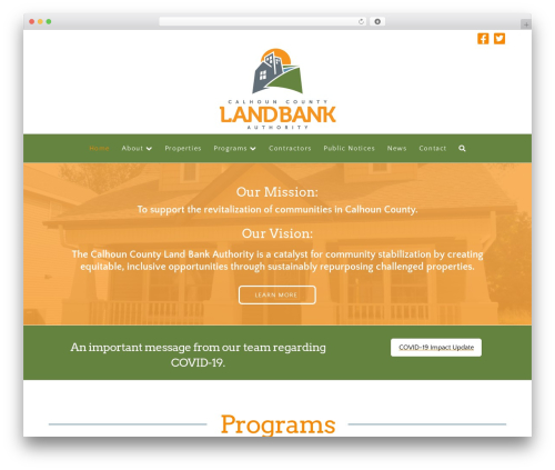 X WordPress theme - calhounlandbank.org