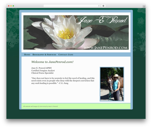 2010 Weaver WordPress theme - janepenrod.com