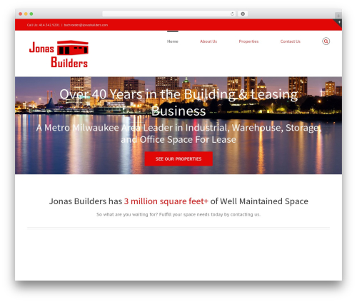 Avada WordPress theme design - jonasbuilders.com