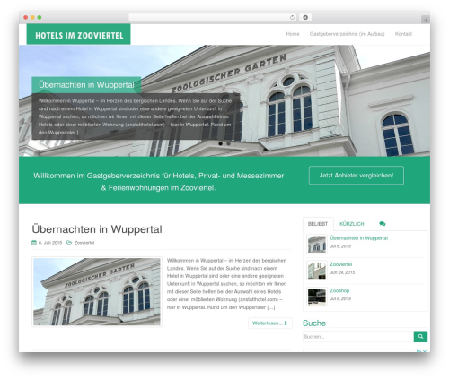 Dazzling free WP theme - hotelamzoo-wuppertal.de
