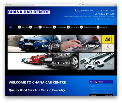 Dynamic WordPress theme - chanacarcentre.co.uk