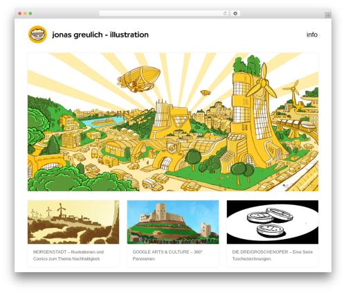 Portfolio personal blog example - jonasgreulich.com