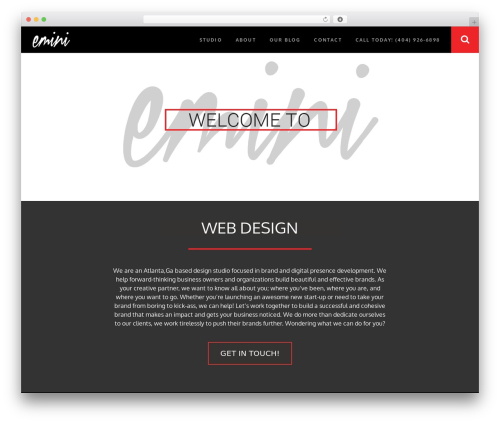 RED:FOLIO company WordPress theme - eminicreative.com