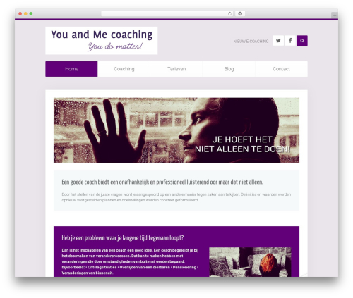 Unity WordPress page template by YOOtheme