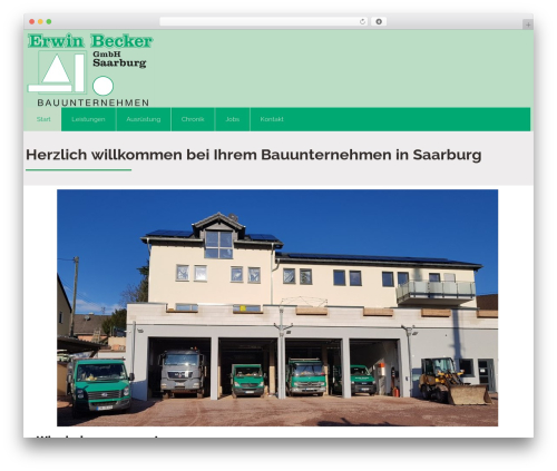 WordPress website template Attorney - becker-saarburg.de