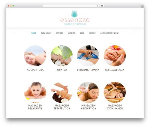 WordPress website template Dream Spa - essenzza.com.br