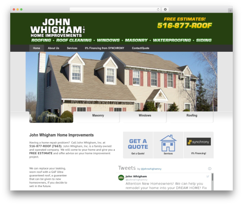 Best WordPress theme Impression theme - johnwhighaminc.com