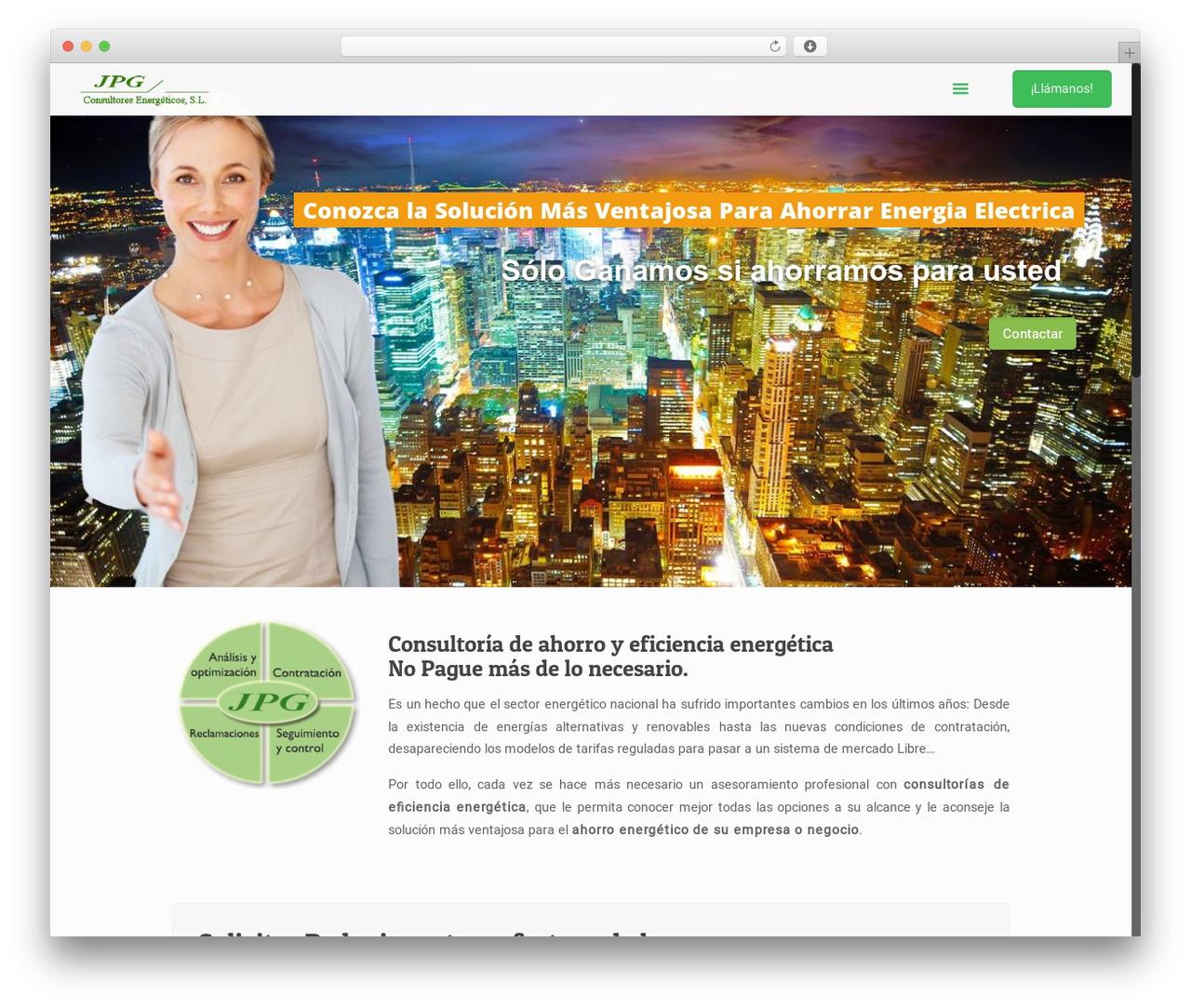 Betheme WordPress website template - jpgconsultores.es