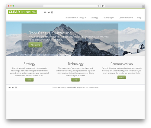 Customizr best free WordPress theme - clearthinking.ch