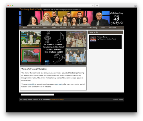 Frontier WordPress theme download - jimmyjusticefamily.org