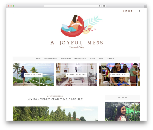 Glamour best WordPress template - joyfulmess.com