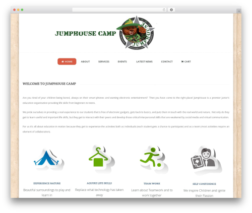 Guru theme WordPress - jumphousecamp.com