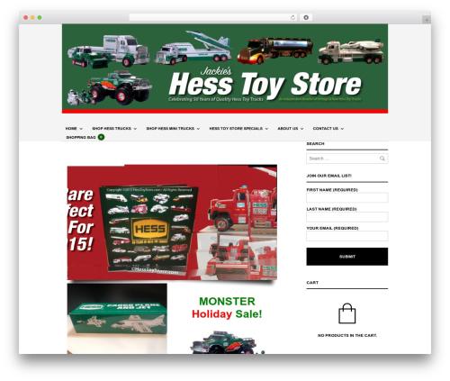 The Retailer WordPress theme - jackiestoystore.com