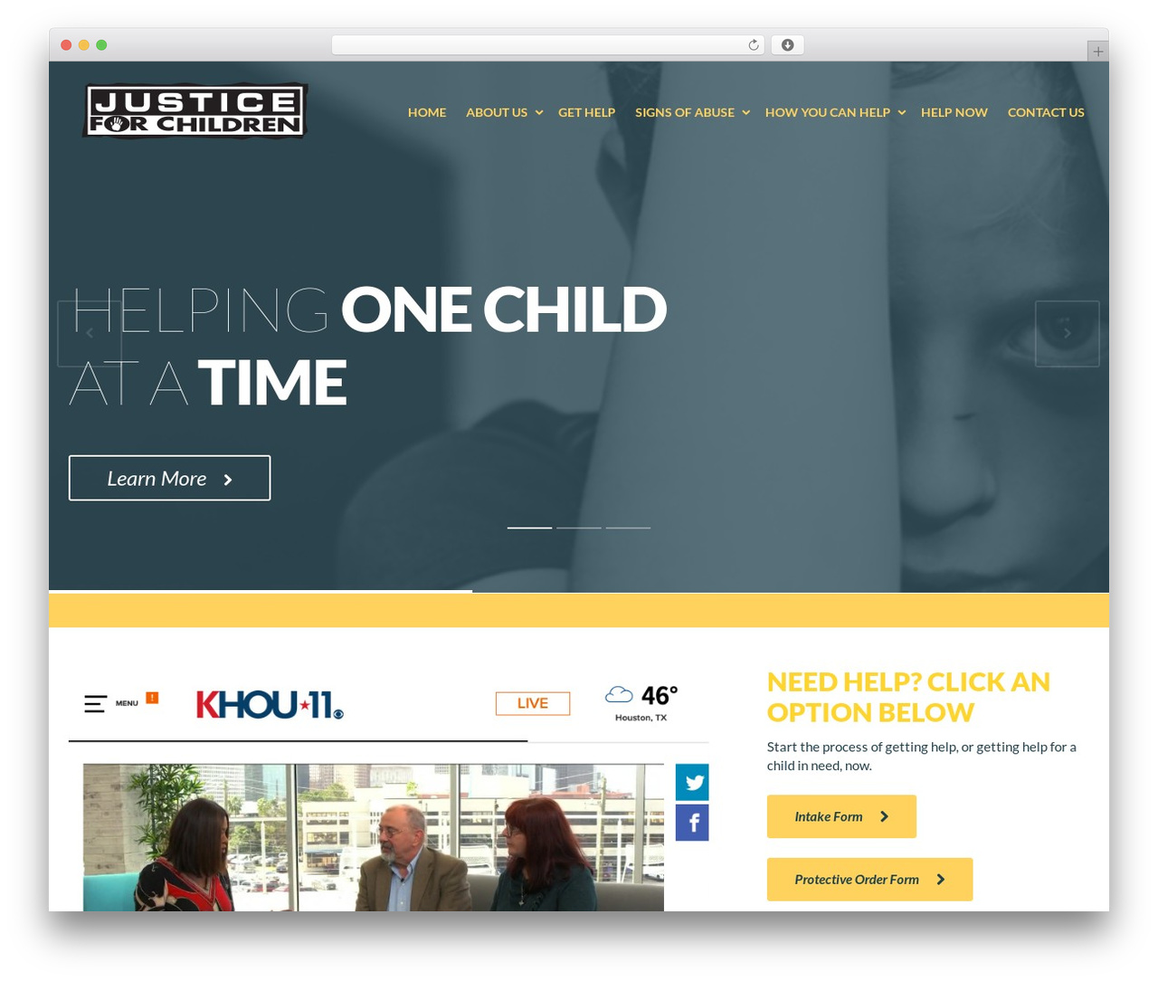 theme wordpress philanthropy child by themefuse - justiceforchildren