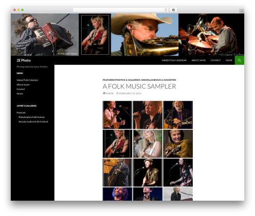 Twenty Fourteen WordPress template for photographers - jayne2e.com