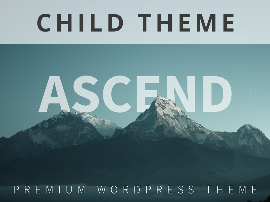 WordPress theme Ascend Premium Child Theme