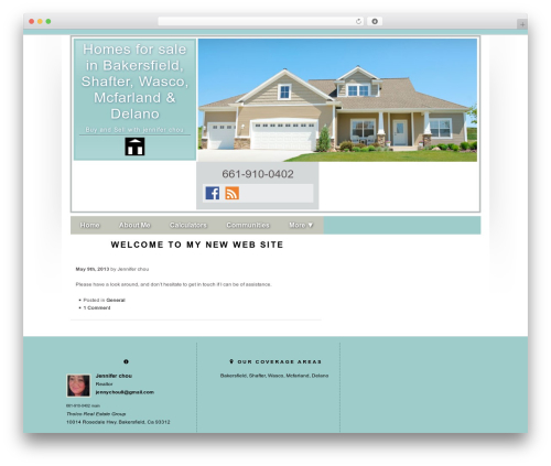 Concise WordPress theme - jenchousellshomes.com