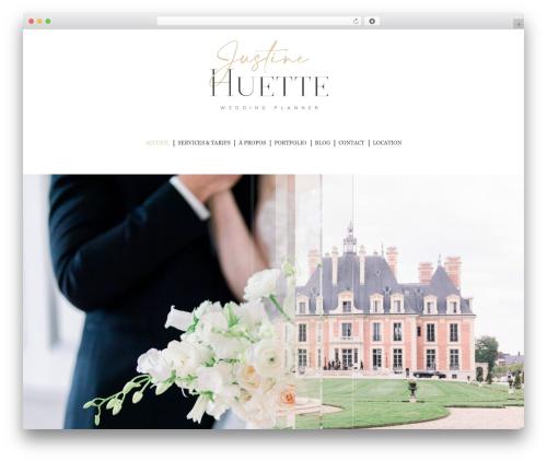 The7 theme WordPress - justinehuette.fr